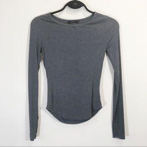 Talula Grey Stretchy Longsleeve Shirt Size Small